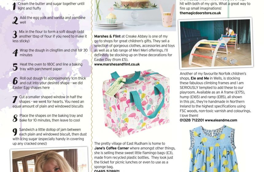 Feature in North Norfolk Living Magazine Spring Edition